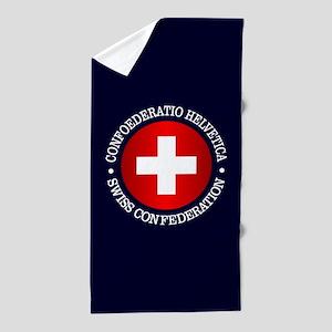 Swiss (rd) Beach Towel
