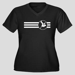 Pole Vaulter Stripes Plus Size T-Shirt