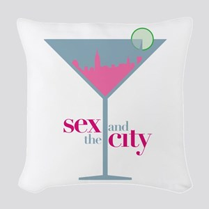 Sex And The City Martini Glass Woven Throw Pillow