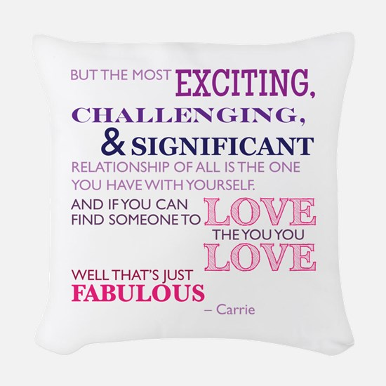 SATC: Exciting Relationship Woven Throw Pillow