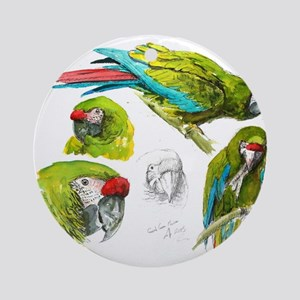 Green Macaw Ornament (Round)