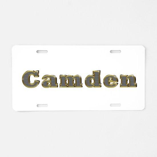 Camden Gold Diamond Bling Aluminum License Plate