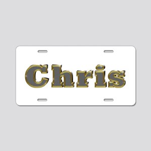 Chris Gold Diamond Bling Aluminum License Plate