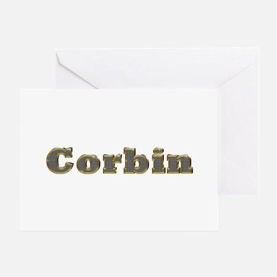 Corbin Gold Diamond Bling Greeting Card