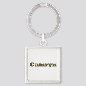 Camryn Gold Diamond Bling Square Keychain
