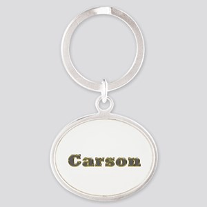 Carson Gold Diamond Bling Oval Keychain