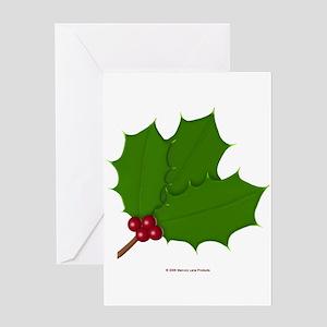 Holly Basic Greeting Card