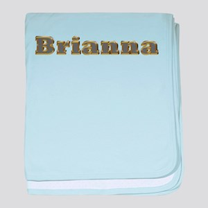 Brianna Gold Diamond Bling baby blanket