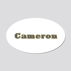 Cameron Gold Diamond Bling 20x12 Oval Wall Decal