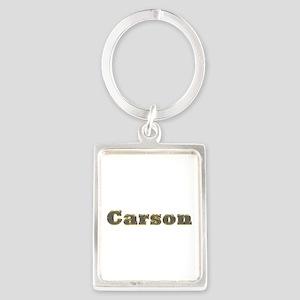 Carson Gold Diamond Bling Portrait Keychain
