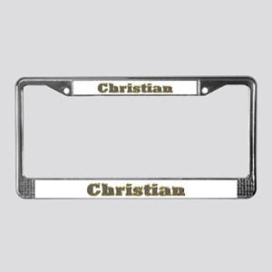 Christian Gold Diamond Bling License Plate Frame