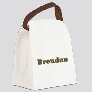 Brendan Gold Diamond Bling Canvas Lunch Bag
