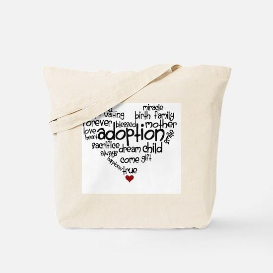 Adoption words heart Tote Bag