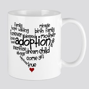 Adoption words heart Mug