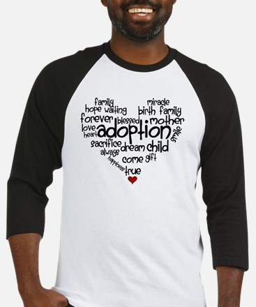 Adoption words heart Baseball Jersey
