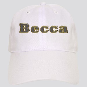 Becca Gold Diamond Bling Baseball Cap