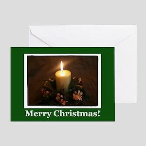 Irish Christmas Candle Greeting Card
