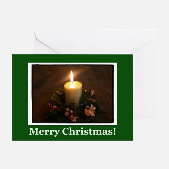 Irish Christmas Candle Greeting Card