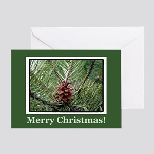 Irish Christmas Pinecone Greeting Card