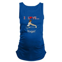 I Love Yoga Maternity Tank Top