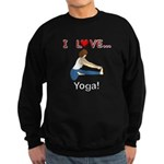 I Love Yoga Sweatshirt (dark)