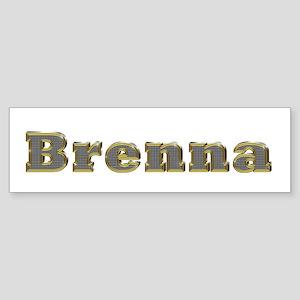 Brenna Gold Diamond Bling Bumper Sticker