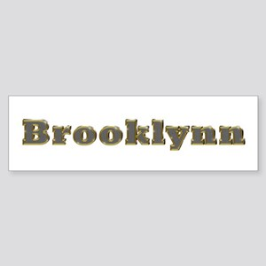 Brooklynn Gold Diamond Bling Bumper Sticker