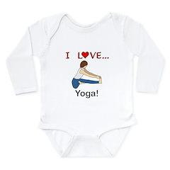 I Love Yoga Long Sleeve Infant Bodysuit