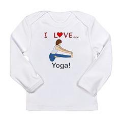 I Love Yoga Long Sleeve Infant T-Shirt