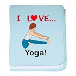 I Love Yoga baby blanket
