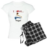 I Love Yoga Women's Light Pajamas