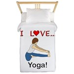 I Love Yoga Twin Duvet