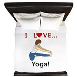 I Love Yoga King Duvet