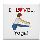 I Love Yoga Tile Coaster