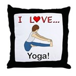 I Love Yoga Throw Pillow