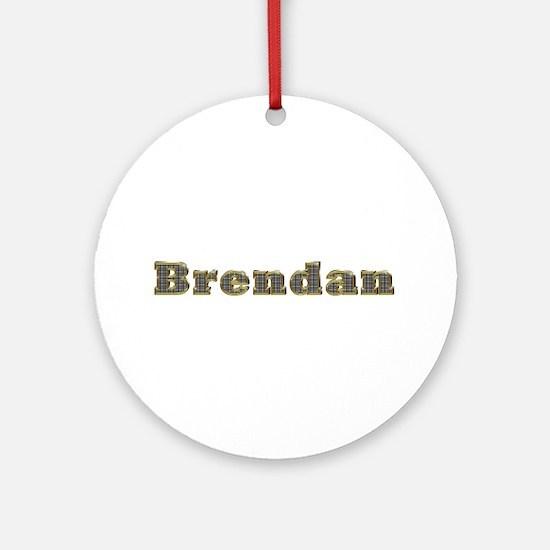 Brendan Gold Diamond Bling Round Ornament