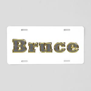 Bruce Gold Diamond Bling Aluminum License Plate