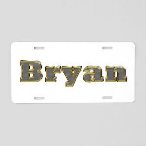 Bryan Gold Diamond Bling Aluminum License Plate