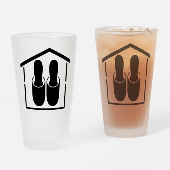 House shoes Drinking Glass