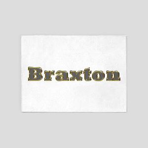 Braxton Gold Diamond Bling 5'x7' Area Rug
