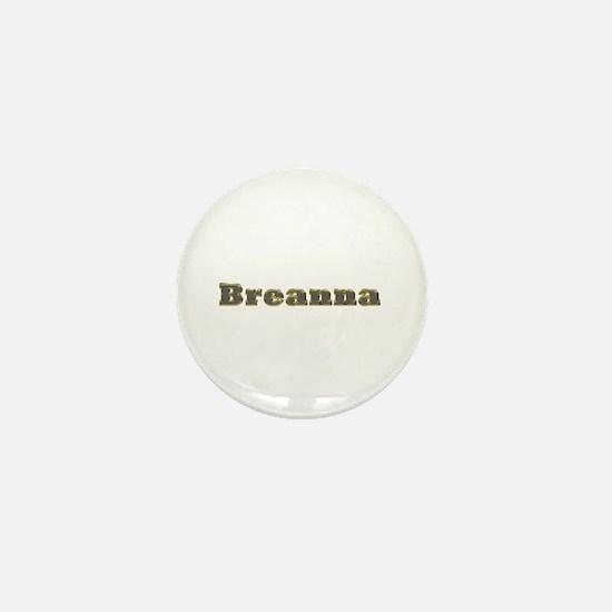Breanna Gold Diamond Bling Mini Button