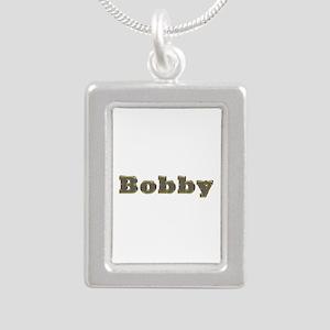 Bobby Gold Diamond Bling Silver Portrait Necklace