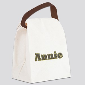 Annie Gold Diamond Bling Canvas Lunch Bag