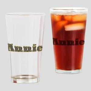 Annie Gold Diamond Bling Drinking Glass