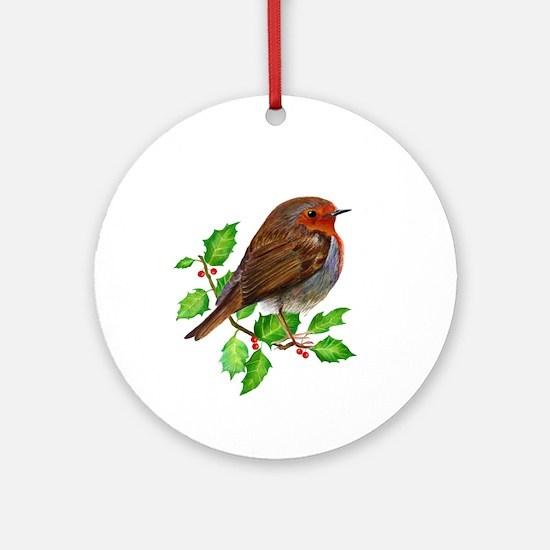Robin Bird, Robin Redbreast, Painting Ornament (Ro