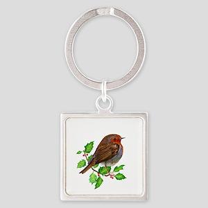 Robin Bird, Robin Redbreast, Painting Keychains