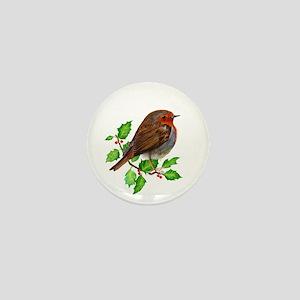Robin Bird, Robin Redbreast, Painting Mini Button