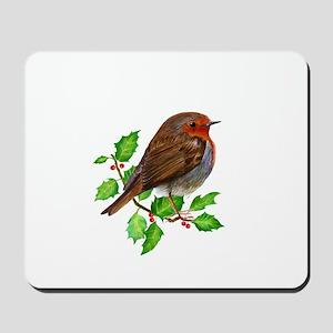 Robin Bird, Robin Redbreast, Painting Mousepad