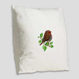 Robin Bird, Robin Redbreast, Painting Burlap Throw