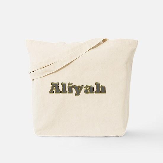 Aliyah Gold Diamond Bling Tote Bag